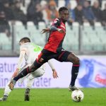 Christian Kouame of Genoa in action during the Serie A match between Juventus and Genoa. (Getty Images)