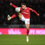 Matty Cash of Nottingham Forest controls the ball during the Carabao Cup Fourth Round match between Burton Albion and Nottingham Forest at Pirelli Stadium. (Getty Images)