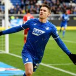 Andrej Kramaric of TSG 1899 Hoffenheim celebrates after scoring his team's first goal during the Bundesliga match between TSG 1899 Hoffenheim and Fortuna Duesseldorf at PreZero-Arena. (Getty Images)