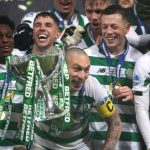 Scott Brown of Celtic lifts the Betfred Cup following victory in the Betfred Cup Final between Rangers FC and Celtic FC at Hampden Park on December 08, 2019 in Glasgow, Scotland. (Getty Images)