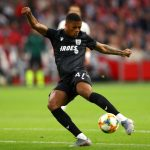 Chuba Akpom of PAOK in action during the UEFA Champions League 3rd Qualifying match between Ajax and PAOK Thessaloniki at Johan Cruyff Arena. (Getty Images)