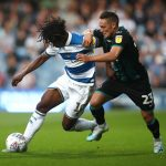Connor Roberts of Swansea tackles Eberechi Eze of Queens Park Rangers during the Sky Bet Championship match between Queens Park Rangers and Swansea City. (Getty Images)