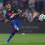 Barcelona midfielder Arturo Vidal in action. (Getty Images)