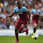 Issa Diop of West Ham United in action during the Premier League match between Brighton & Hove Albion and West Ham United at American Express Community Stadium on August 17, 2019 in Brighton, United Kingdom. (Getty Images)