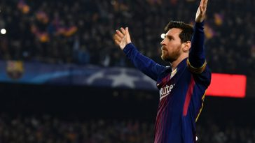 Lionel Messi of Barcelona assist