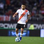 Paulo Diaz of River Plate drives the ball during a match between River Plate and Talleres as part of Superliga 2019/20 at Estadio Monumental Antonio Vespucio Liberti. (Getty Images)
