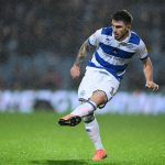 Ryan Manning of Queens Park Rangers shoots during the Sky Bet Championship match between Queens Park Rangers and Nottingham Forest at The Kiyan Prince Foundation Stadium on November 27, 2019 in London, England. (Getty Images)