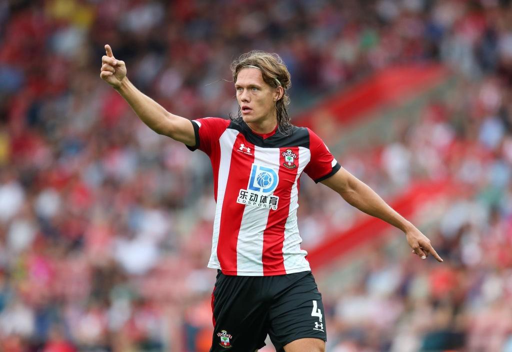 Jannik Vestergaard in action for Southampton.