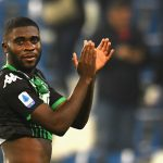 Sassuolo Jeremie Boga applauds the fans. (Getty Images)