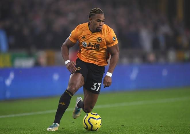 Wolves winger Adama Traore in action. (Getty Images)