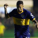 Agustin Almendra of Boca Juniors celebrates after scoring the first goal of his team during a match between Defensa y Justicia and Boca Juniors as part of Superliga Argentina 2019/20 at Norberto Tomaghello Stadium on October 6, 2019 in Florencio Varela, Argentina. (Getty Images)