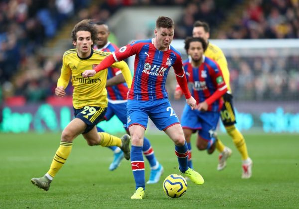 James McCarthy of Crystal Palace is put under pressure by Matteo Guendouzi of Arsenal during the Premier League match between Crystal Palace and Arsenal FC at Selhurst Park on January 11, 2020 in London, United Kingdom. (Getty Images)