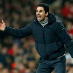 Arsenal manager Mikel Arteta screams at his players. (Getty Images)