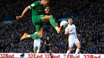 Jacob Murphy of Sheffield Wednesday shoots towards goal during the Sky Bet Championship match between Leeds United and Sheffield Wednesday at Elland Road on January 11, 2020 in Leeds, England. (Getty Images)