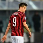 Krzysztof Piatek of AC Milan looks on during the Serie A match between Parma Calcio and AC Milan at Stadio Ennio Tardini on December 1, 2019 in Parma, Italy. (Getty Images)