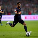 Matheus Cunha of Leipzig runs with the ball during the Bundesliga match between SV Werder Bremen and RB Leipzig at Wohninvest Weserstadion on September 21, 2019 in Bremen, Germany. (Getty Images)