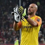 Pepe Reina of AC Milan at the end of the Serie A match between Genoa CFC and AC Milan at Stadio Luigi Ferraris on October 5, 2019 in Genoa, Italy. (Getty Images)