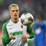 Philipp Max of FC Augsburg looks on during the Bundesliga match between FC Augsburg and Fortuna Duesseldorf at WWK-Arena on December 17, 2019 in Augsburg, Germany. (Getty Images)
