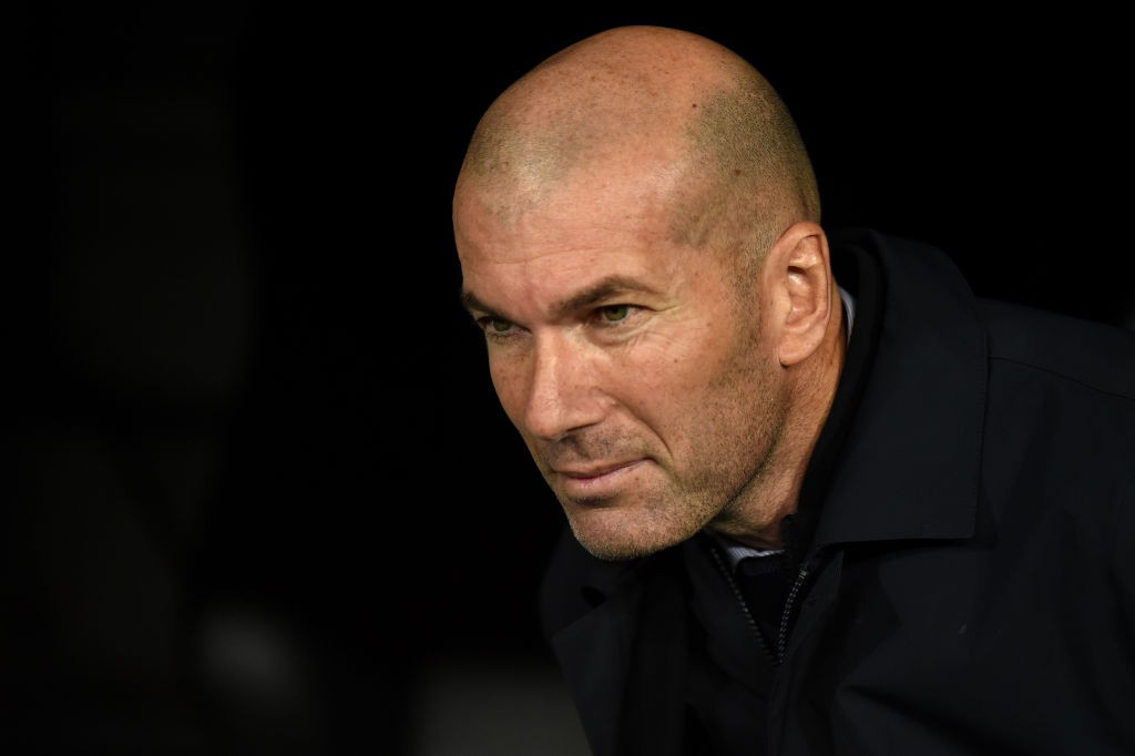 Real Madrid boss and former French footballer Zinedine Zidane has improved his place to 22nd in the overall polls. (Getty Images)