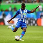 Hertha Berlin forward Salomon Kalou in action. (Getty Images)
