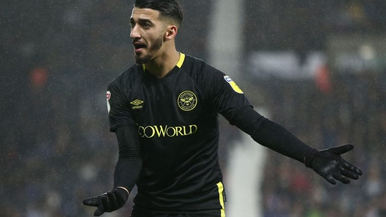 Said Benrahma of Brentford reacts during the Sky Bet Championship match between West Bromwich Albion and Brentford at The Hawthorns on December 21, 2019 in West Bromwich, England. (Getty Images)