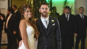 Lionel Messi with his wife Antonella Roccuzzo. (Google)