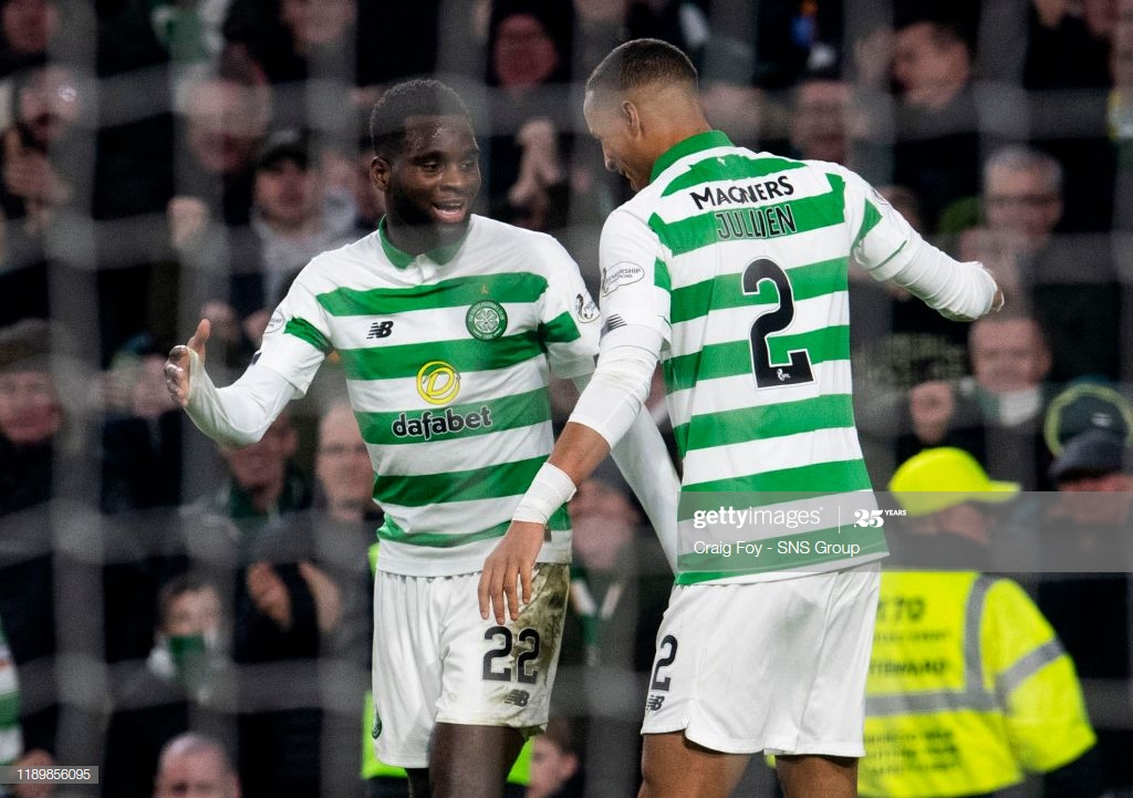 Odsonne Edouard celebrating with teammate Christopher Jullien (Getty Images)