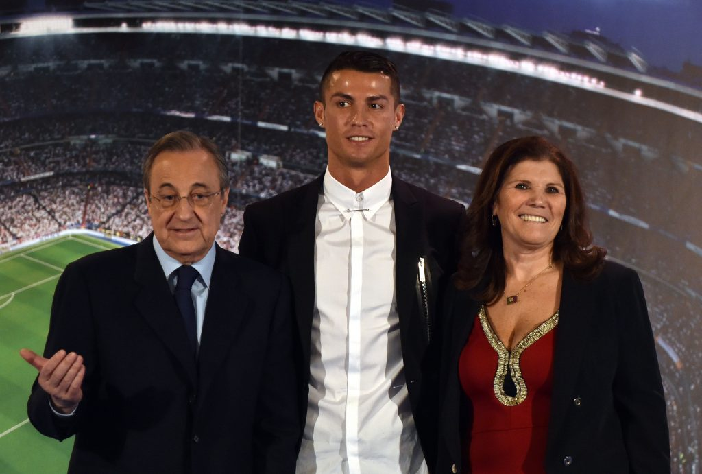 Cristiano Ronaldo with his mother