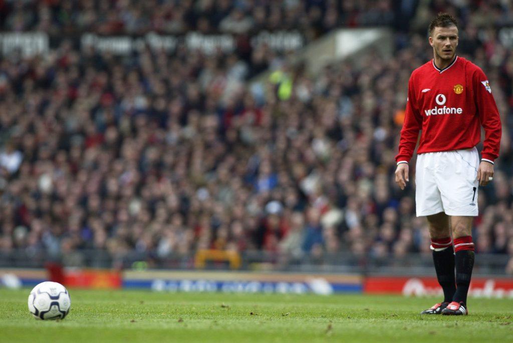 David Beckham during his Manchester United days