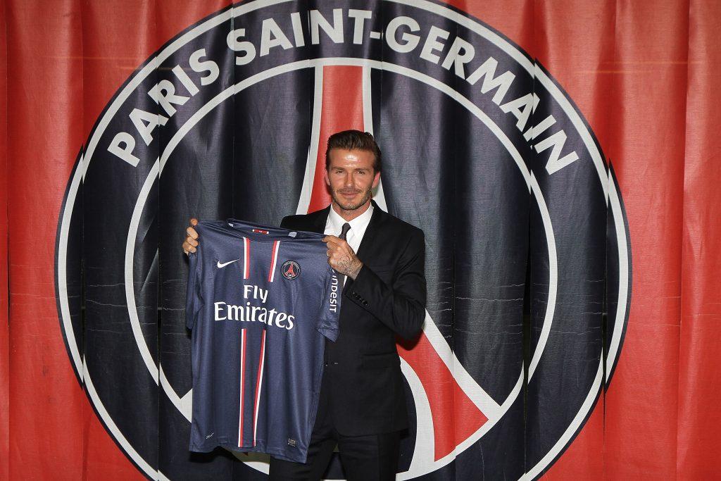 David Beckham signing for PSG