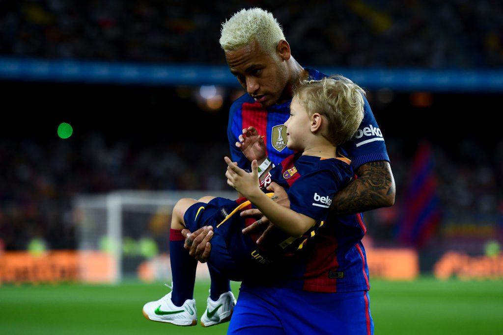 Neymar with his son