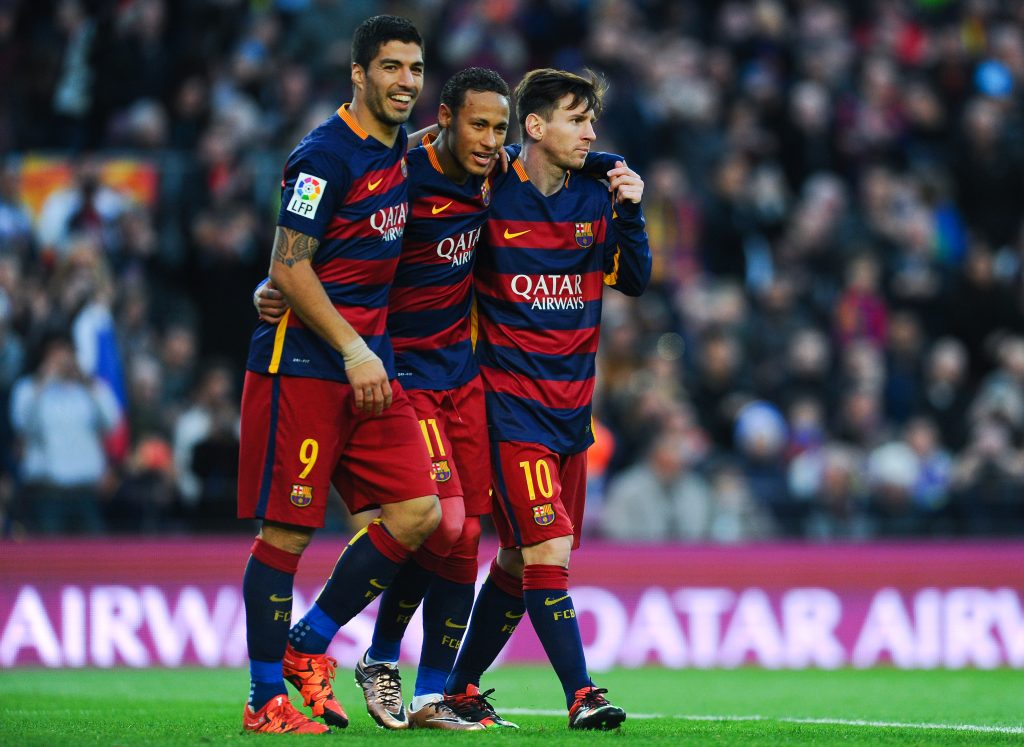 The MSN trio of Lionel Messi, Luis Suarez and Neymar