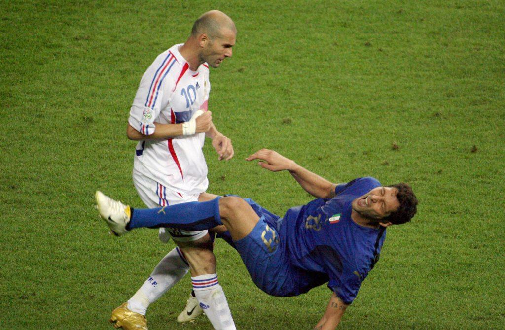Zinedine Zidane headbutted Marco Matterazzi