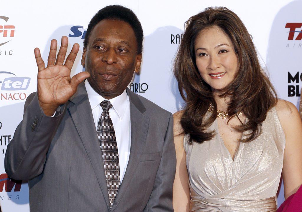 Pele and his wife Marcia Aoki