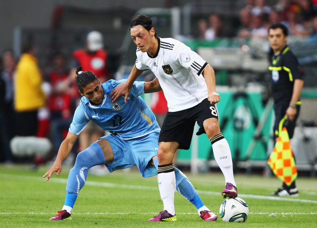 Mesut Ozil in action during a charity game