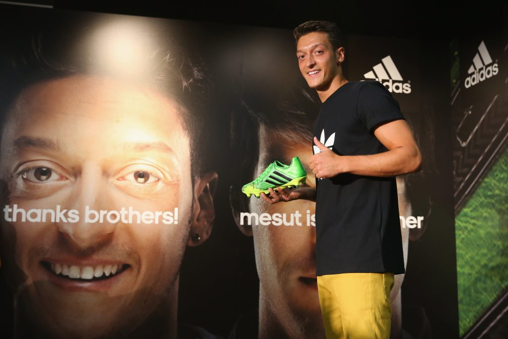 Mesut Ozil is one of the faces of Adidas