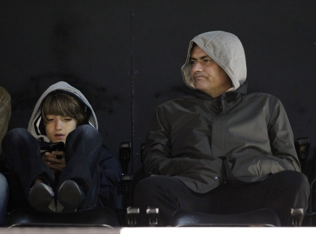 Jose Mourinho has been pictured several times with his wife, daughter and son