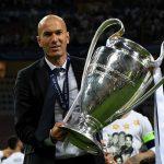 Zinedine Zidane with the Champions League