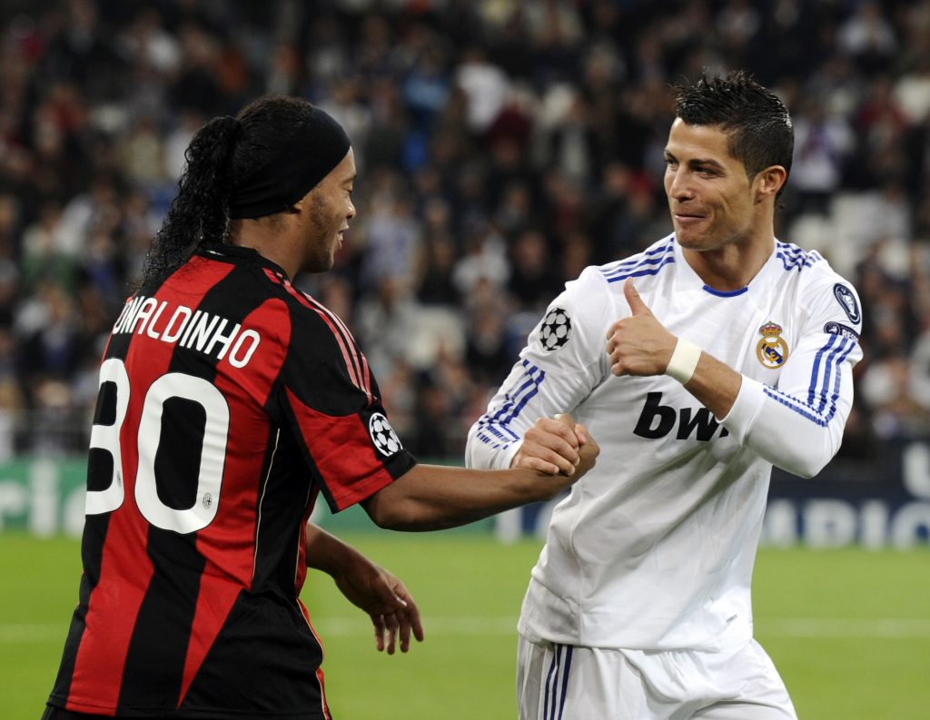 What is the net worth of Ronaldinho in the year 2020?