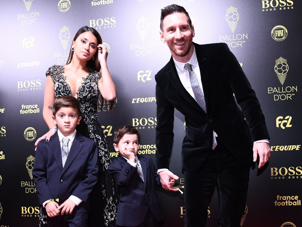 Lionel Messi and his family