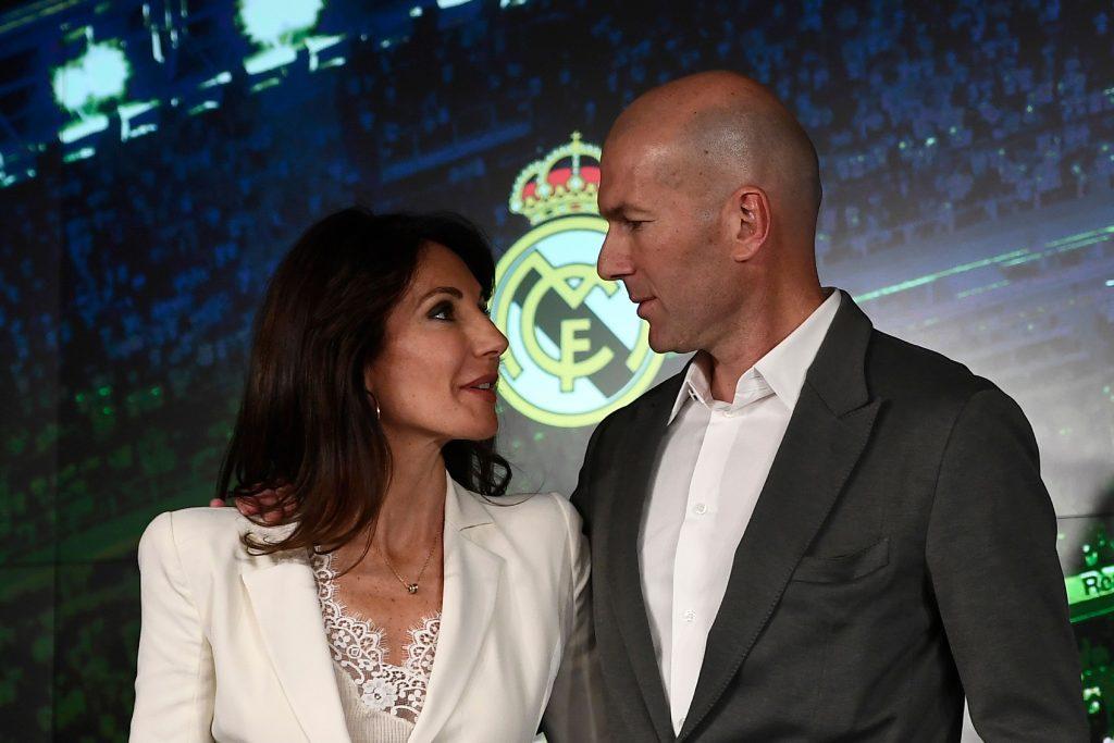 Zinedine Zidane with his wife Veronique