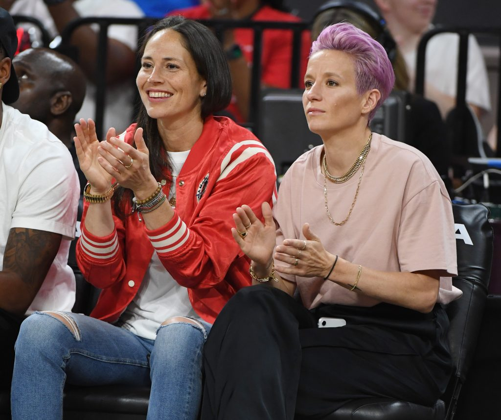 Megan Rapinoe and her partner Sue Bird
