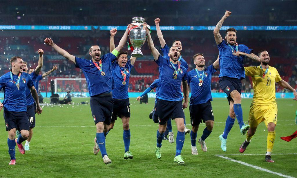Italy v England - UEFA EURO, EM, Europameisterschaft,Fussball 2020 Final - Wembley Stadium Italy s Giorgio Chiellini an