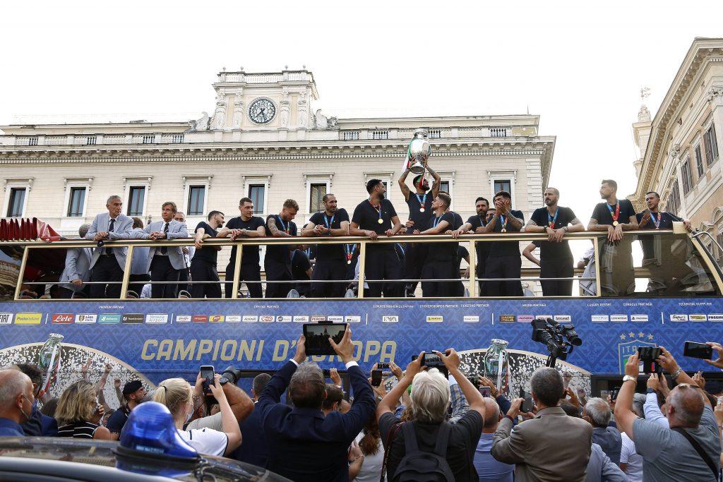 The Italian national team, Nationalteam ( Ciro Immobile, Alessandro Florenzi, Andrea Belotti, Giorgio Chiellini , Gianlu
