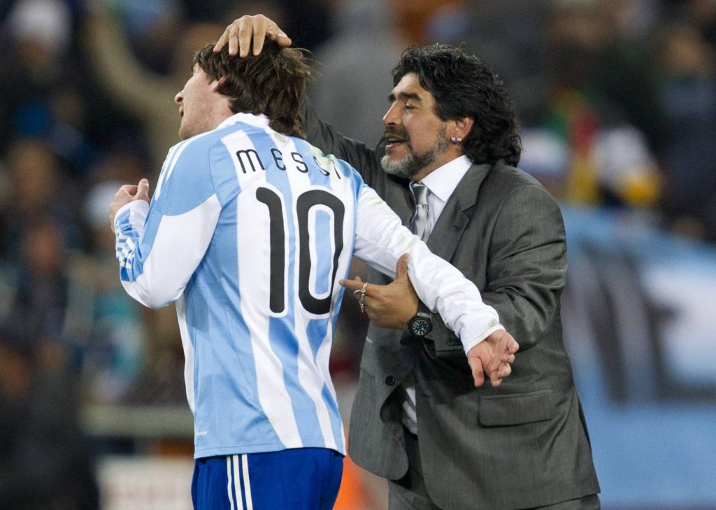 Messi is a legend at Argentina and is often likened to Diego Maradona.