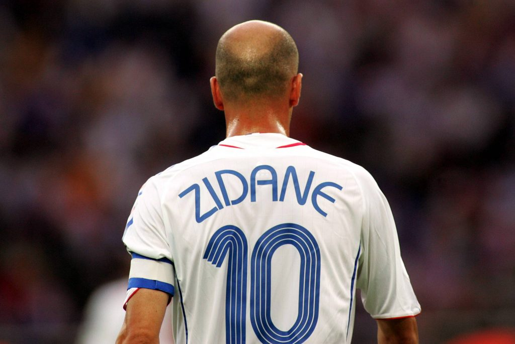 Zinedine Zidane is one of the top 10 football players of all time.