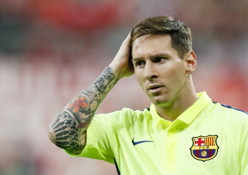 Lionel Messi has several tattoos on his body.