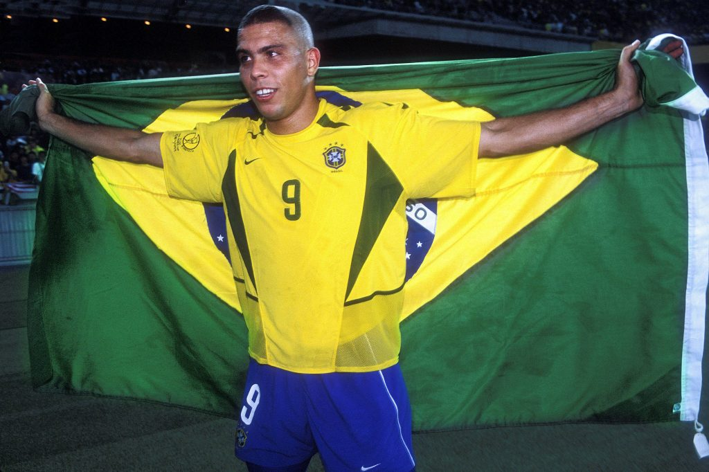 Ronaldo after winning the 2002 FIFA World Cup as he starred against France in the final.