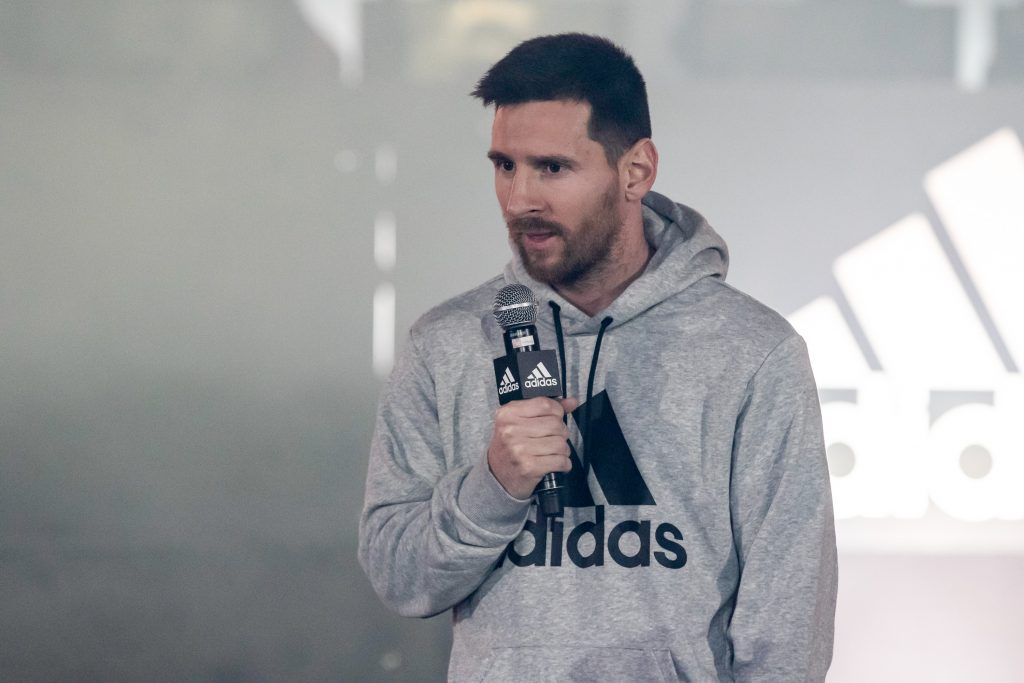 Messi has adidas as a part of sponsorship / endorsements.